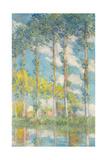 The Poplars; Les Peupliers, 1891 Giclée-tryk af Claude Monet