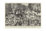 A Day's Outing for London Children, a Sunday School Treat in Bushey Park Giclee Print by Charles Paul Renouard