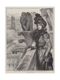 Beauty Among the Devils, on the Roof of Notre Dame, Paris Giclee Print by Charles Paul Renouard