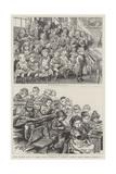 Free Dinners Given to Board School Children at Denmark Terrace Board School, Islington, N Giclee-trykk av Charles Paul Renouard