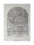 Interior of Study for King of Spain in Paris Giclee Print by Charles Percier