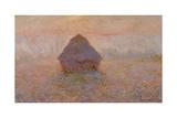 Grainstack, Sun in the Mist, 1891 Giclée-Druck von Claude Monet