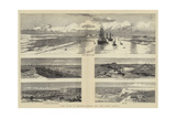 The War in Egypt, Views on the Suez Canal Reproduction procédé giclée par Charles William Wyllie