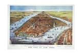 City of New York, 1876 Giclee-trykk av Currier & Ives,