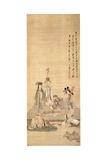 Immortals Celebrating a Birthday, 1649 Giclée-tryk af Chen Hongshou