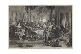 The Author's Reception by the Actors Giclee Print by Daniel Maclise