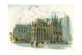 Westminster Abbey in the 19th Century Giclee Print by Charles Wilkinson