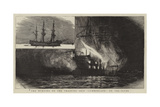 The Burning of the Training Ship Cumberland on the Clyde Giclee Print by Charles William Wyllie