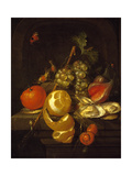 Still Life with Fruit and Oysters, Mid-1650s Giclee Print by Cornelis de Heem