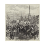 The Royal Visit to Coventry, the Procession Through the Town Giclee Print by Charles Robinson