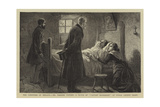 The Condition of Ireland, Mr Forster Visiting a Victim of Captain Moonlight at Tulla, County Clare Giclee Print by Charles Joseph Staniland