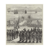 The British Fleet at San Jose, Guatemala, Saluting the British Flag Giclee Print by Charles Robinson