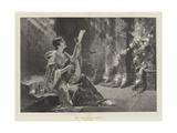 La Mandolinata Giclee Print by Conrad Kiesel