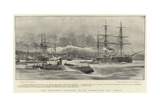 The Watcher Watched, Naval Manoeuvres Off Canea Giclee Print by Charles William Wyllie