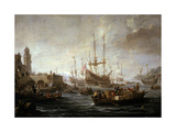 Meerespanorama (Doppeldruck) Giclée-Druck von Claude Joseph Vernet