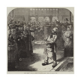 Inside Paris, a Sale by Auction in the Fish Market Giclee Print by Charles Joseph Staniland
