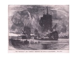 The 'Mountjoy' and the 'Phoenix' Breaking the Boom at Londonderry Ad 1689 Giclee Print by Charles William Wyllie