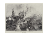The Coal Traffic in the Thames, William Cory and Son's Derricks at Work Giclee Print by Charles William Wyllie