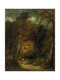 Wooded Landscape Giclee Print by David Cox