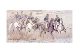 The Chasseurs D'Afrique During the Crimean War of 1854 Giclee Print by Constantin Guys