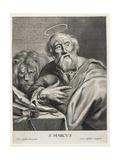 Hl. Markus Giclée-Druck von Cornelis Visscher