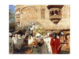 A Street in Jodphur, India Gicléedruk van Edwin Lord Weeks