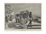 A Fakir's Funeral, India Gicléedruk van Edwin Lord Weeks