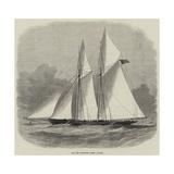 The New Schooner Yacht Livonia Giclee Print by Edwin Weedon