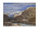 The Challenge, 1853 Giclee Print by David Cox