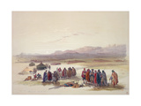 Encampment of the Alloeen in Wady Araba Giclee Print by David Roberts