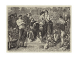 Scene, Lawn before the Duke's Palace; Orlando About to Engage with Charles, the Duke's Wrestler Giclee Print by Edmond Morin