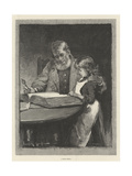 A Bible Lesson Giclee Print by Davidson Knowles