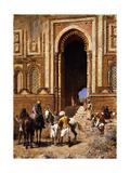 The Gateway of Alah-Ou-Din, Old Delhi, Late 19th Century Gicléedruk van Edwin Lord Weeks