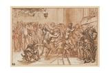 The Mocking of Christ Lámina giclée por  Domenichino