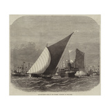 Sailing-Barge Race on the Thames, Rounding at the Nore Giclee Print by Edwin Weedon
