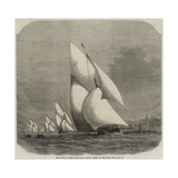 The Royal Thames Yacht Club Match, Finish of the Race Giclee Print by Edwin Weedon