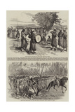The Paris Fetes, Passage of the Turcos Giclee Print by Edmond Morin