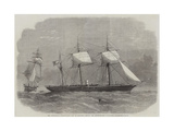 The Confederate Sloop-Of-War 290, or Alabama, Leaving the Merchant-Ship Tonowanda Reproduction procédé giclée par Edwin Weedon