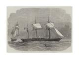The Confederate Sloop-Of-War 290, or Alabama, Leaving the Merchant-Ship Tonowanda Giclee Print by Edwin Weedon