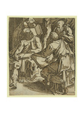 Four Doctors of the Church(), Between 1500 and 1551 Giclée-tryk af Domenico Beccafumi