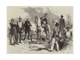 The War Between Spain and Morocco, Costumes of the Spanish Army Giclee Print by Edmond Morin