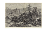 The War, Turks Hauling Guns Up to the Front Giclee Print by Felix Regamey