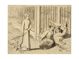 Pippa Passes, 1854 Giclee Print by Elizabeth Eleanor Siddal