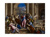 Christ Driving the Money Changers from the Temple, C.1570 Lámina giclée por  El Greco