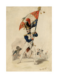 Ensign of the Grenadiers, French Imperial Guard, 1817 Giclee Print by Eugene-Louis Lami