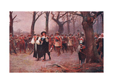 Charles I Escorted to His Execution Giclee Print by Ernest Crofts