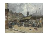 Market at Trouville; Marche a Trouville, 1878 Reproduction procédé giclée par Eugene Louis Boudin