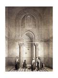 Mihrab of Mosque of Mohammed-Ben-Qalaum (14th Century) in Cairo Reproduction procédé giclée par Emile Prisse d'Avennes