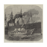 Shipping the Atlantic Telegraph Cable on Board the Great Eastern Reproduction procédé giclée par Edwin Weedon