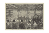 Opening of the First Railway in Japan Giclee Print by Felix Regamey